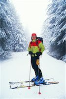 Portrait of Back-Country Skier    Stock Photo - Premium Rights-Managednull, Code: 700-00189688