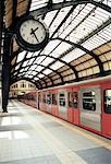 Subway Platform Piraeus, Athens, Greece    Stock Photo - Premium Rights-Managed, Artist: David Stuart, Code: 700-00189728