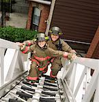 Father and Son Firefighters    Stock Photo - Premium Rights-Managed, Artist: Dan Lim, Code: 700-00190278