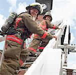 Father and Son Firefighters    Stock Photo - Premium Rights-Managed, Artist: Dan Lim, Code: 700-00190279