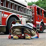 Firefighter's Boots    Stock Photo - Premium Rights-Managed, Artist: Dan Lim, Code: 700-00190281