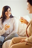 fat italian woman - Women Drinking Wine    Stock Photo - Premium Rights-Managednull, Code: 700-00193395