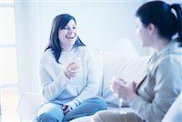 fat italian woman - Women Sitting on Sofa Drinking Wine    Stock Photo - Premium Rights-Managednull, Code: 700-00193398