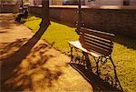 Empty Park Bench Old Quebec City Canada    Stock Photo - Premium Rights-Managed, Artist: Pierre Tremblay, Code: 700-00194423