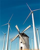 Windmill and Wind Turbines    Stock Photo - Premium Rights-Managednull, Code: 700-00194570