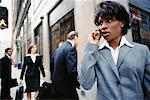 Businesswoman on Cell Phone    Stock Photo - Premium Rights-Managed, Artist: Ron Fehling, Code: 700-00195695