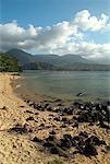 Overview of Beach Princeville, Kauai, Hawaii, USA