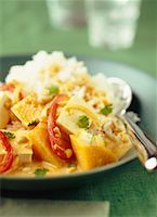 Stir-Fried Tofu with Squash and Coconut Milk Dish    Stock Photo - Premium Rights-Managednull, Code: 700-00196468