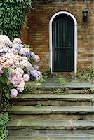 Door with Porch and Flowers    Stock Photo - Premium Rights-Managednull, Code: 700-00196729