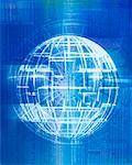 Wire Globe    Stock Photo - Premium Rights-Managed, Artist: Ken Davies, Code: 700-00196822