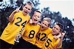Four Boys with Trophy Yelling