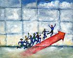 Illustration of Business People Climbing Bar Graph    Stock Photo - Premium Rights-Managed, Artist: Thomas Dannenberg, Code: 700-00199184