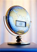 LCD Screen on Globe with At Symbol    Stock Photo - Premium Rights-Managednull, Code: 700-00199190