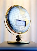 LCD Screen on Globe with Internet Address    Stock Photo - Premium Rights-Managednull, Code: 700-00199195