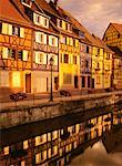Exterior of Houses Along Water    Stock Photo - Premium Rights-Managed, Artist: Daryl Benson, Code: 700-00199407