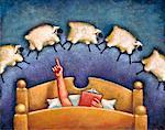 Counting Sheep    Stock Photo - Premium Rights-Managed, Artist: James Wardell, Code: 700-00199975