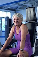 fitness older women gym - Woman Stock Photo - Premium Royalty-Freenull, Code: 604-00230288