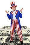 Uncle Sam with money/ Stock Photo - Premium Royalty-Free, Artist: AWL Images, Code: 604-00233913