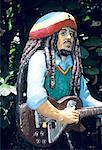 Jamaica, sculpture of Bob Marley