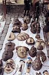 Belgium, Brussels, Sablon's Place on Sunday, African masks Stock Photo - Premium Royalty-Free, Artist: Ben Seelt, Code: 610-00257566