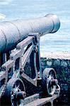 Jamaica, Port Antonio, fortress, old gun