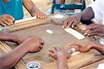 Dominican Republic, Sanchez, men playing dominos