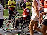 Wheelchair Athlete at New York Marathon New York, New York, USA