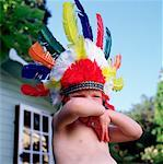 Girl Wearing Native Headdress    Stock Photo - Premium Rights-Managed, Artist: Michael Clement, Code: 700-00267793