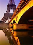 Eiffel Tower and Pont d'Iena Paris France    Stock Photo - Premium Rights-Managed, Artist: Daryl Benson, Code: 700-00267835