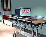 Sick Computer on Hospital Stretcher    Stock Photo - Premium Rights-Managed, Artist: Rick Fischer, Code: 700-00268244