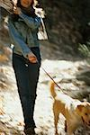 Woman Walking her Dog    Stock Photo - Premium Rights-Managed, Artist: Strauss/Curtis, Code: 700-00268386