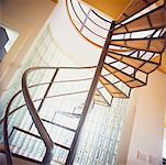 Spiral Staircase in Home    Stock Photo - Premium Rights-Managed, Artist: Marnie Burkhart, Code: 700-00268976