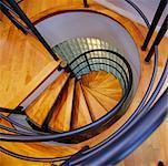 Spiral Staircase in Home    Stock Photo - Premium Rights-Managed, Artist: Marnie Burkhart, Code: 700-00268977