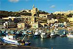 Overview of Harbour and Small Town Mgarr, Gozo Malta    Stock Photo - Premium Rights-Managed, Artist: Peter Christopher, Code: 700-00269549