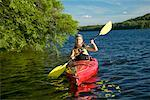 Woman in Kayak    Stock Photo - Premium Rights-Managed, Artist: Peter Barrett, Code: 700-00269769