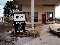 rural gas station - Abandoned Gas Station Route 66, New Mexico, USA    Stock Photo - Premium Rights-Managednull, Code: 700-00270590