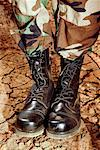 Boots of soldier Stock Photo - Premium Royalty-Free, Artist: patrimonio                    , Code: 604-00276321