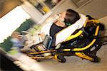 Patient in ambulance/ Stock Photo - Premium Royalty-Free, Artist: Steve Craft, Code: 604-00277483