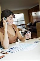 ebusiness - Woman with Cell Phone and Credit Card    Stock Photo - Premium Rights-Managednull, Code: 700-00280411