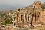 Ruins of Ancient Greco-Roman Amphitheatre Taormina, Messina, Sicily, Italy    Stock Photo - Premium Rights-Managed, Artist: Peter Barrett, Code: 700-00281153