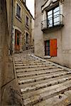 Steps Between Buildings Amboise, France    Stock Photo - Premium Rights-Managed, Artist: George Simhoni, Code: 700-00281216