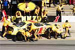 Pit Crew Working on Car at Nascar Race    Stock Photo - Premium Rights-Managed, Artist: Roy Ooms, Code: 700-00281791