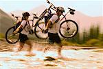 Couple Mountain Biking    Stock Photo - Premium Rights-Managed, Artist: Roy Ooms, Code: 700-00284830