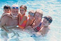 Family in a Swimming Pool    Stock Photo - Premium Rights-Managednull, Code: 700-00285906