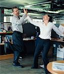 Business People Dancing in Office    Stock Photo - Premium Rights-Managed, Artist: Noel Hendrickson, Code: 700-00286699