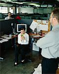 Boss Scolding Employees    Stock Photo - Premium Rights-Managed, Artist: Noel Hendrickson, Code: 700-00286701