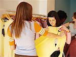 Teenagers Shopping    Stock Photo - Premium Rights-Managed, Artist: Janet Bailey, Code: 700-00318477