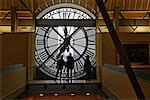 People Looking Out the Clock Tower at Musee d'Orsay Paris, France