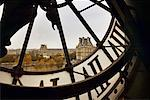 View From the Clock Tower at Musee d'Orsay, Paris, France