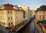Overview of Street, Prague, Czech Republic    Stock Photo - Premium Rights-Managed, Artist: David Zimmerman, Code: 700-00343228
